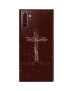 Scratch Cross Galaxy Note 10 Skin