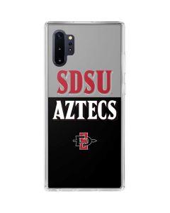 SDSU Aztecs Galaxy Note 10 Plus Clear Case