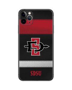 SDSU Striped iPhone 11 Pro Max Skin
