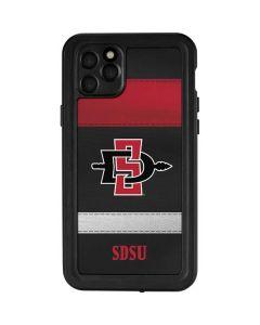 SDSU Striped iPhone 11 Pro Max Waterproof Case