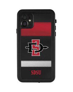 SDSU Striped iPhone 11 Waterproof Case