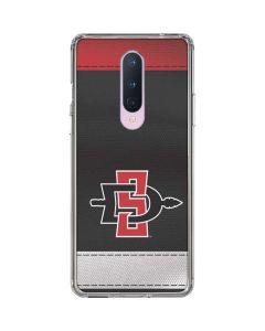 SDSU Striped OnePlus 8 Clear Case