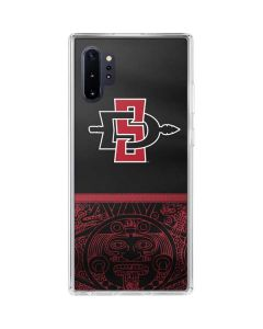 SDSU Tribal Print Galaxy Note 10 Plus Clear Case
