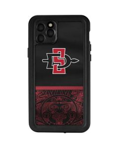 SDSU Tribal Print iPhone 11 Pro Max Waterproof Case