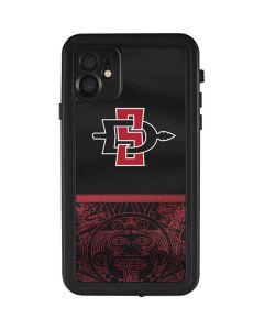 SDSU Tribal Print iPhone 11 Waterproof Case