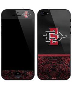 SDSU Tribal Print iPhone 5/5s/5SE Skin