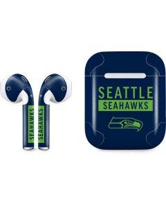 Seattle Seahawks Blue Performance Series Apple AirPods Skin