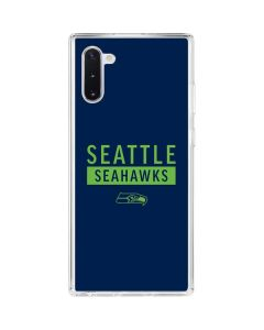 Seattle Seahawks Blue Performance Series Galaxy Note 10 Clear Case