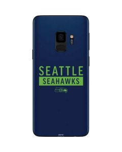 Seattle Seahawks Blue Performance Series Galaxy S9 Skin