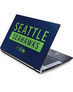 Seattle Seahawks Blue Performance Series Generic Laptop Skin