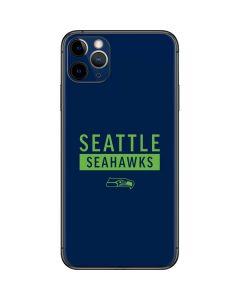 Seattle Seahawks Blue Performance Series iPhone 11 Pro Max Skin