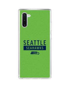 Seattle Seahawks Green Performance Series Galaxy Note 10 Clear Case