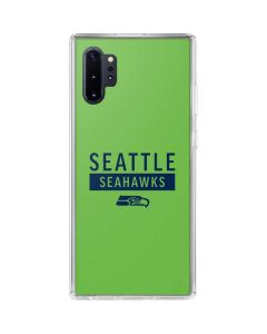 Seattle Seahawks Green Performance Series Galaxy Note 10 Plus Clear Case