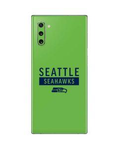 Seattle Seahawks Green Performance Series Galaxy Note 10 Skin