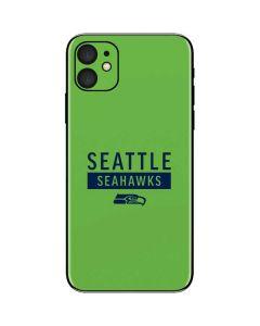 Seattle Seahawks Green Performance Series iPhone 11 Skin