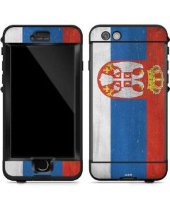 Serbia Flag Distressed LifeProof Nuud iPhone Skin