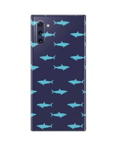 Shark Print Galaxy Note 10 Skin