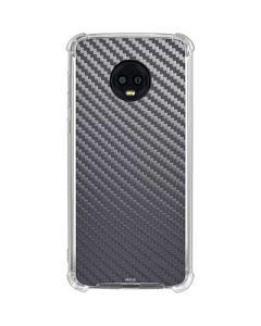 Silver Carbon Fiber Moto G6 Clear Case