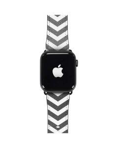 Silver Chevron Apple Watch Band 42-44mm