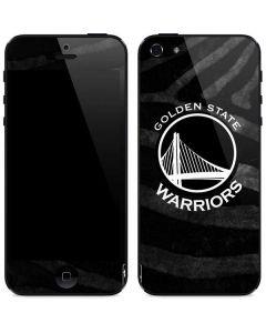 Golden State Warriors Black Animal Print iPhone 5/5s/5SE Skin