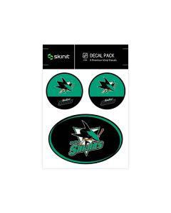 San Jose Sharks Medium Decal Pack