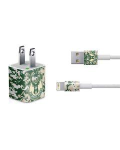 Milwaukee Bucks Camo Digi iPhone Charger (5W USB) Skin