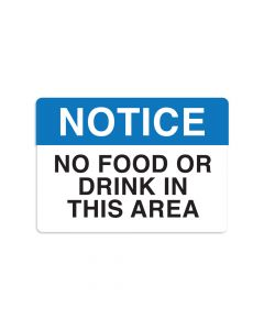 "No Food Or Drink 7"" x 10"" Wall Graphic"