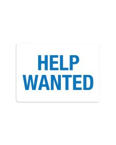 "Help Wanted 7"" x 10"" Wall Graphic"