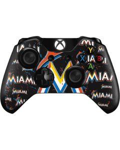Miami Marlins Cap Logo Blast Xbox One Controller Skin