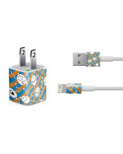 Mr Tickle Striped iPhone Charger (5W USB) Skin