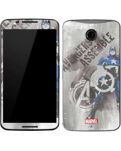 Captain America is Ready Google Nexus 6 Skin