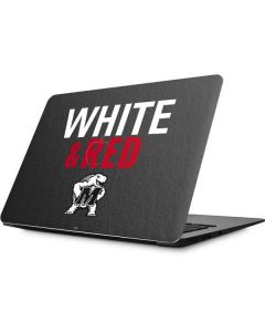 Maryland Terrapins White and Red Apple MacBook Skin