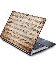 Antique Notes Generic Laptop Skin
