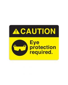 "Eye Protection Required 7"" x 10"" Wall Graphic"