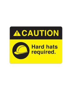 "Hard Hats Required 7"" x 10"" Wall Graphic"