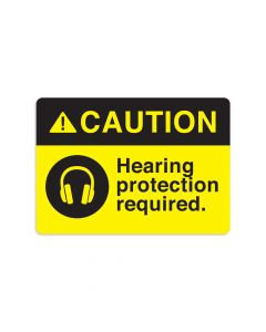 "Hearing Protection Required 7"" x 10"" Wall Graphic"