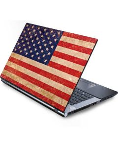 Distressed American Flag Generic Laptop Skin