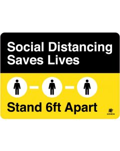 "Social Distancing Saves Lives 10"" x 14"" Wall Graphic"