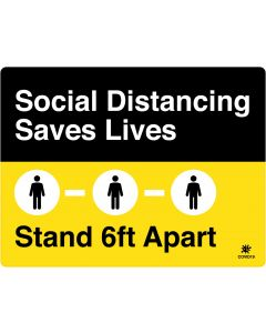 "Social Distancing Saves Lives 18"" x 24"" Wall Graphic"