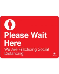 "Please Wait Here 10"" x 14"" Wall Graphic"