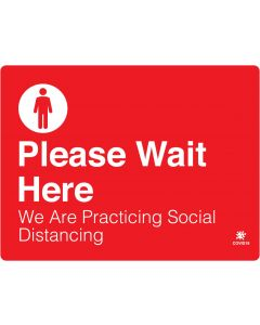 "Please Wait Here 18"" x 24"" Wall Graphic"
