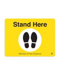 "Stand Here 18"" x 24"" Floor Decal"