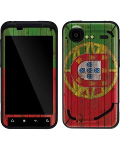 Portuguese Flag Dark Wood Droid Incredible 2 Skin