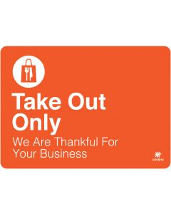 "Take Out Only 10"" x 14"" Wall Graphic"