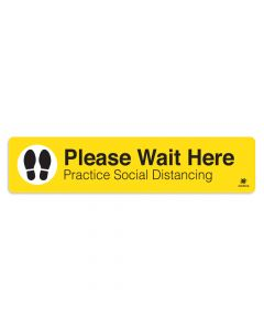 "Please Wait Here 6"" x 27"" Floor Decal"