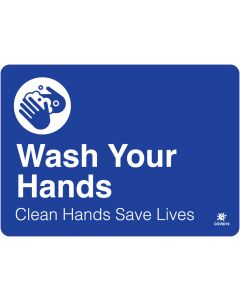 "Wash Your Hands 10"" x 14"" Wall Graphic"