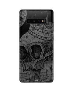 Skull Sketch Galaxy S10 Plus Skin