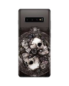 Skulls and Roses Galaxy S10 Plus Skin
