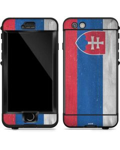Slovakia Flag Distressed LifeProof Nuud iPhone Skin