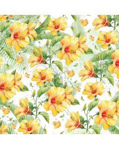 Yellow Hibiscus PS4 Pro/Slim Controller Skin